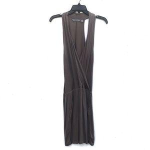 Athleta | Crosstown Cross Wrap Dress Taupe Small